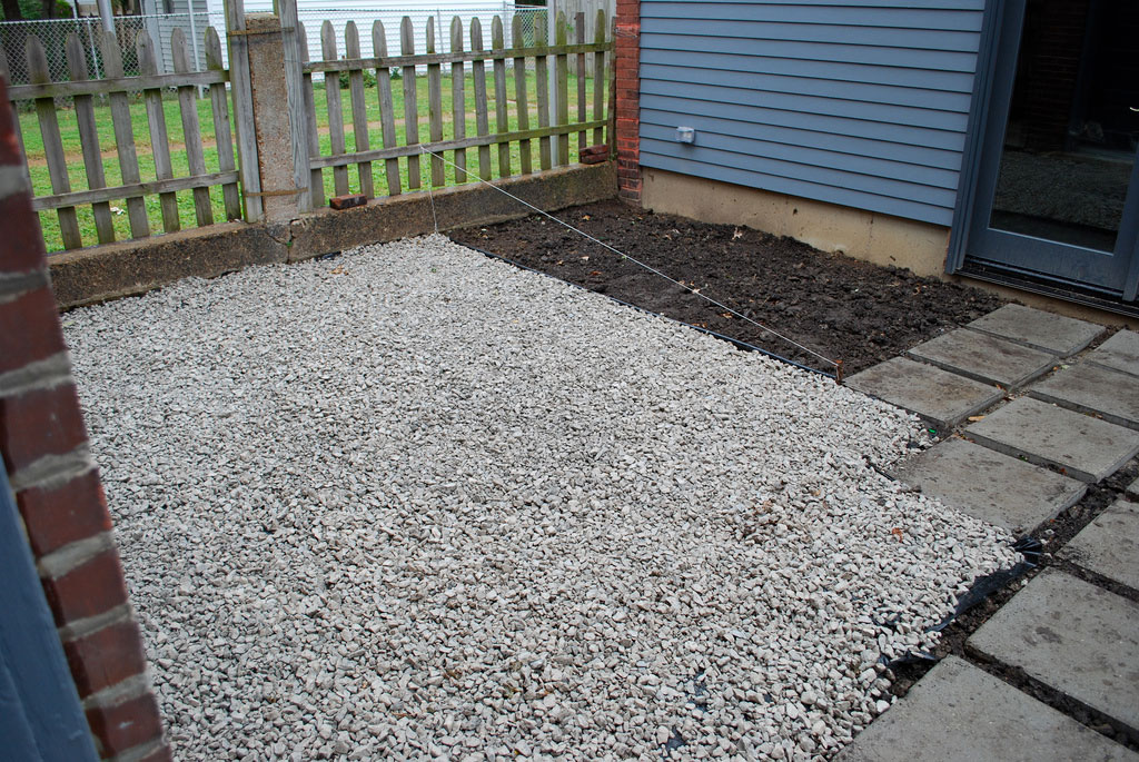 Leveling gravel will save you time and headache, when building your patio