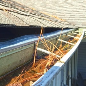 Clogged gutters pull away from your home