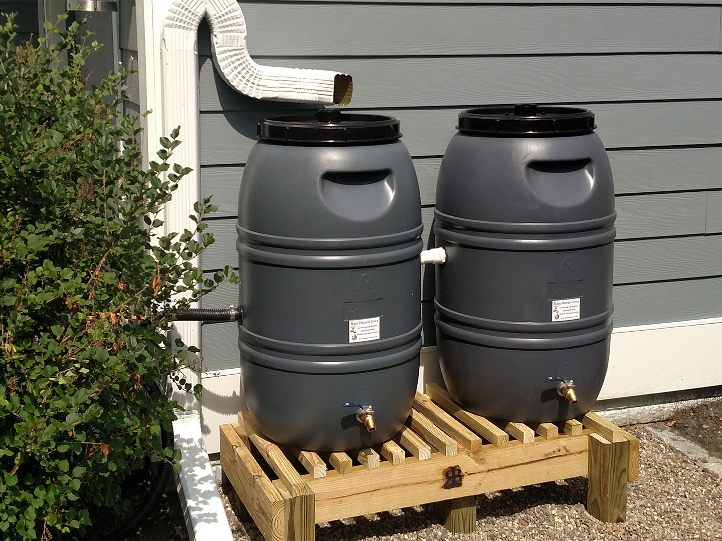 Rain Barrels Iowa offers complete rain harvesting solutions, from 55 to 5,000 gallons of water storage.