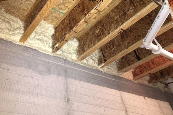 Spray foam is the best material for insulating the rim joist