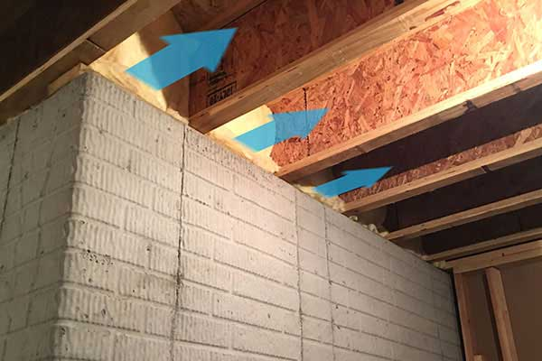 Case Closed On Cold Drafts From Rim Joists Save On