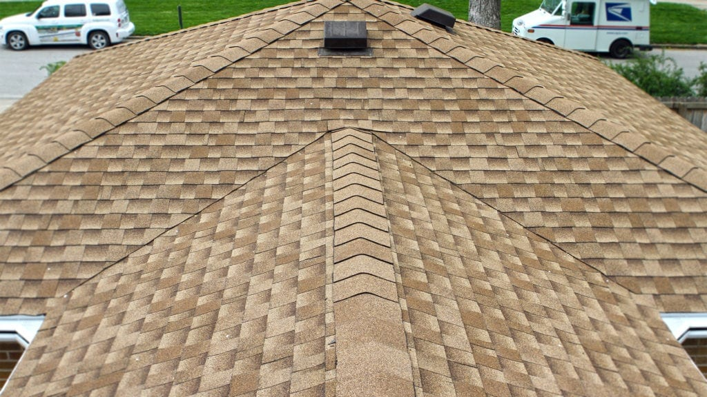 GAF Timberline HD Shingles and roof system on this Adel, IA home