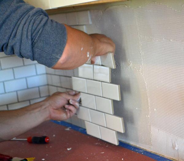 A backsplash upgrade home improvement project