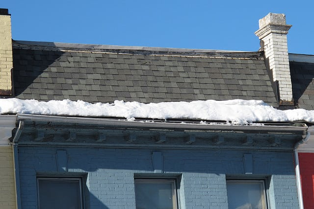 Snow Melting & Sagging Gutters