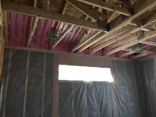 Attic insulation on Waukee home.