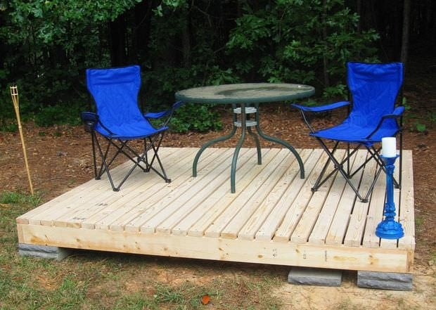 A patio can be away from the home in a different spot on your property