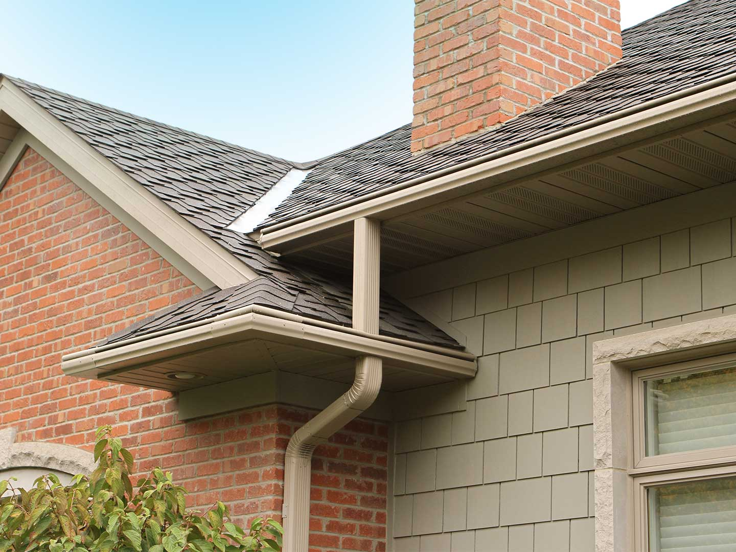 LeafGuard® gutters by Englert is the original and only one-piece seamless gutter system. Its built-in hood covers the gutter bottom and deflects leaves and other debris. The hood is not an add-on, but an integral part of the gutter itself.
