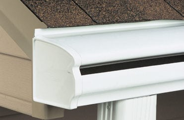 LeafGuard® gutters keep leaves and other debris out of your gutters, so you never have to climb ladders to clean out clogs or worry about water damage caused by clogged gutters.