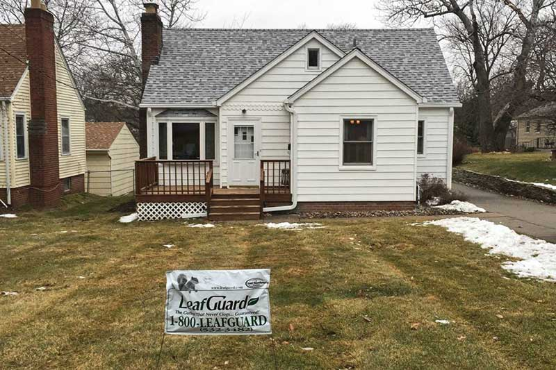 With LeafGuard® gutter's built to last quality Carma will never worry about her gutters fading or needing replaced while she owns her Des Moines, IA home.