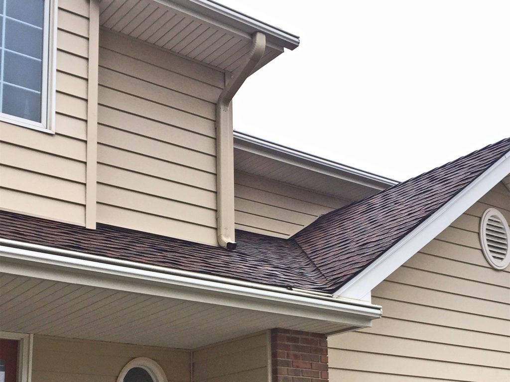 LeafGuard® protects your home's siding, trim and foundation from water damage.