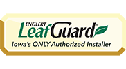 Iowa's only installer of LeafGaurd Brand Gutters