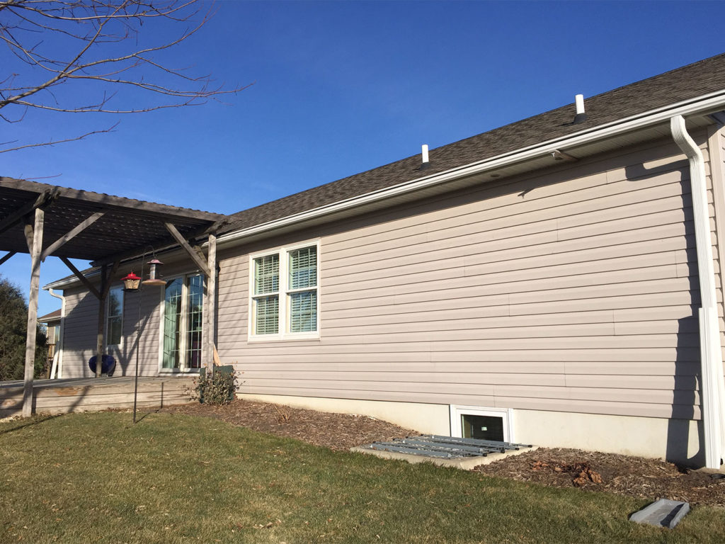 David's Waverly home is now installed with 200 feet of seamless white LeafGuard®gutters.