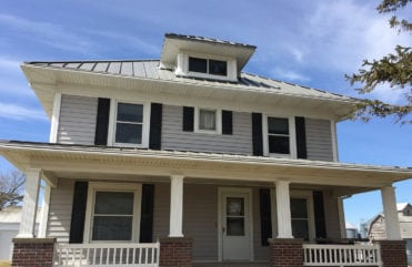 LeafGuard® carries an exclusive ScratchGuard® paint finish, that won't chip, peel or crack, and comes with a Limited Lifetime Warranty. ScratchGuard® will keep this Newton, Iowa homes gutters looking new and fresh.