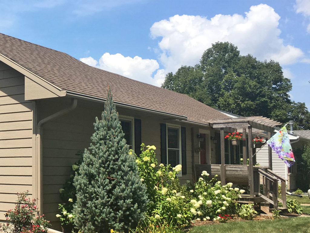 LeafGuard® gutters eliminate the problems homeowners worry about. That's why Beverly went with us at Home Solutions of Iowa for her Iowa home to get the best gutter system on the market today, LeafGuard®.