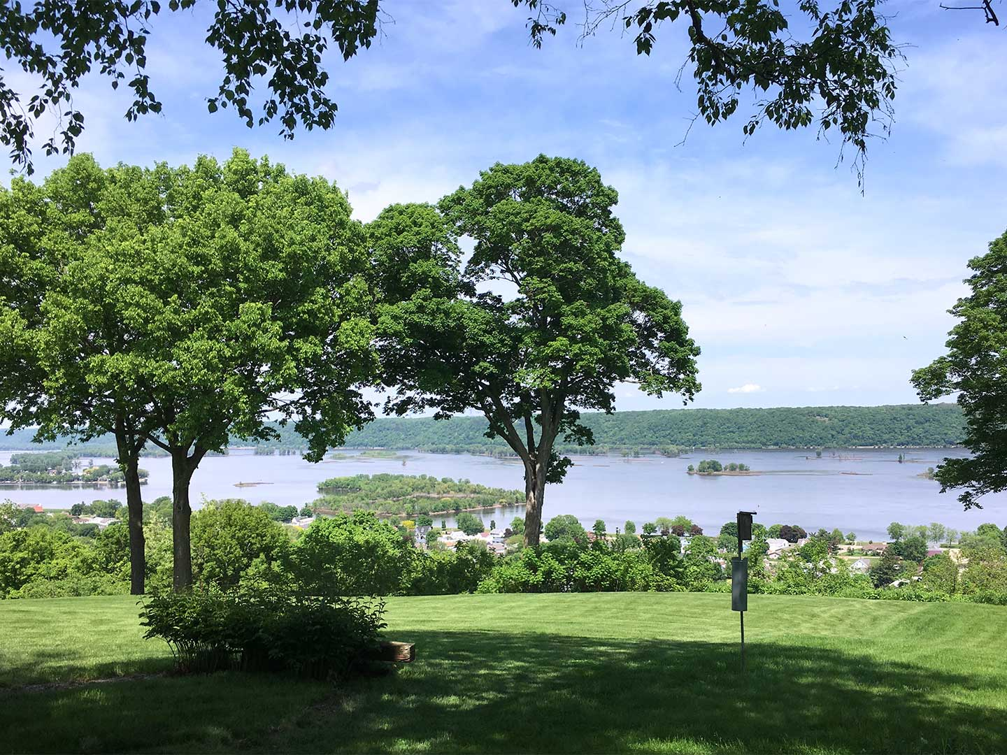 The view of the Mississippi River from Robyn's backyard Guttenberg, IA home.