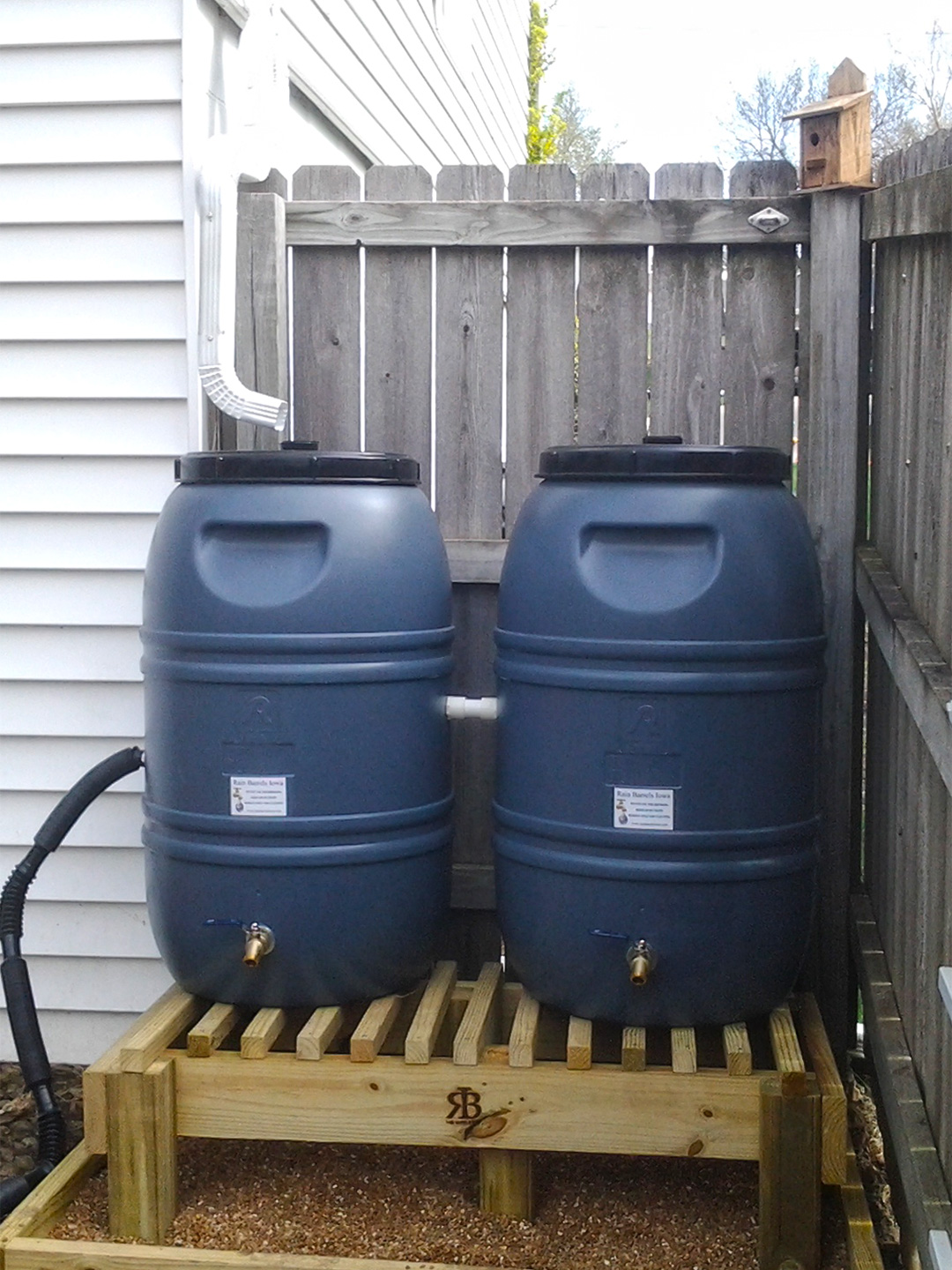 Rain water is free. It is naturally soft. It has not been processed by the local utility for drinking, which requires energy and the addition of chemicals. Rain barrels offer homeowners a chance to capture and use rain water from the roof of the home and or garage.