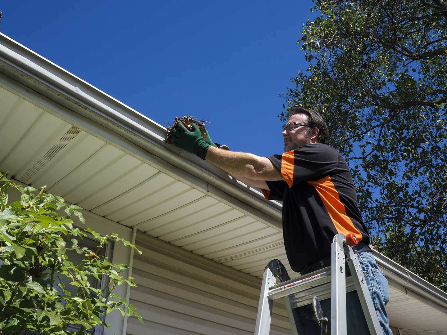 Gutter and Roof maintenance can be dangerous in Iowa.