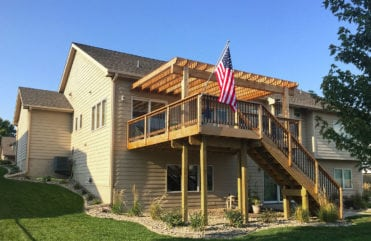 After shot of Barry's Urbandale, Iowa home.