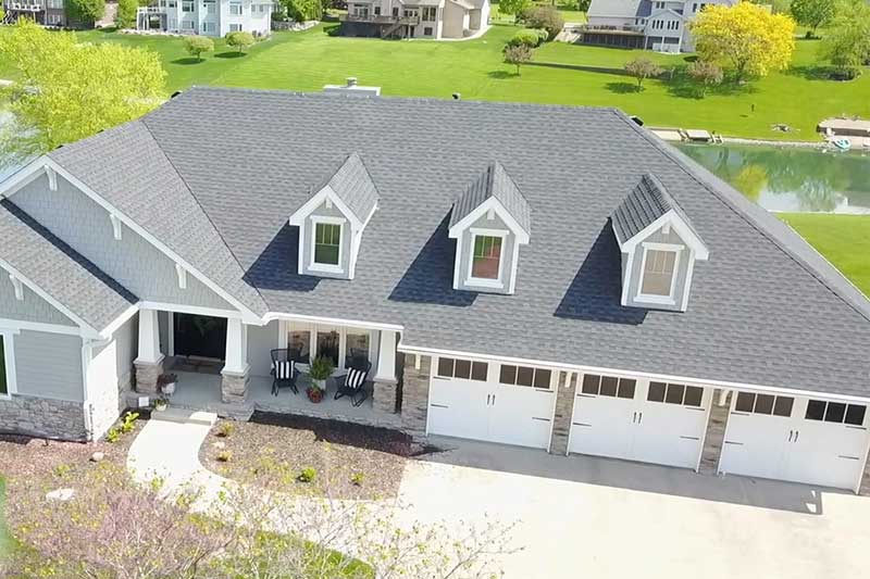 HSI custom drone footage of exterior home