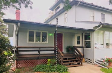 After LeafGuard® gutters were installed on James' LeClaire, IA home.