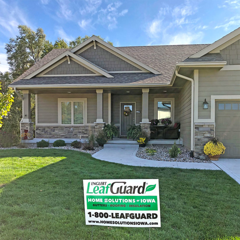 LeafGuard® gutters will keep water flowing freely and safely away from Marc's West Des Moines, Iowa home.
