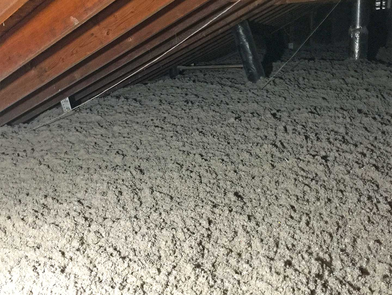 attic Blow-in insulation