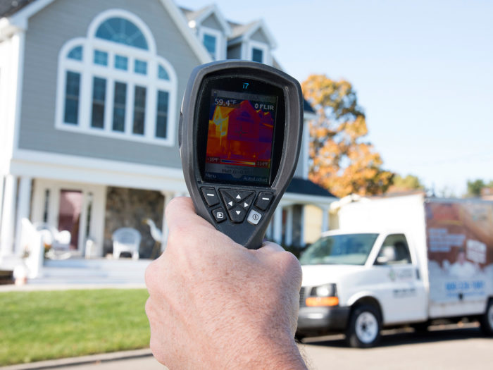 A heat map evaluation will show us where the heat is escaping your home.