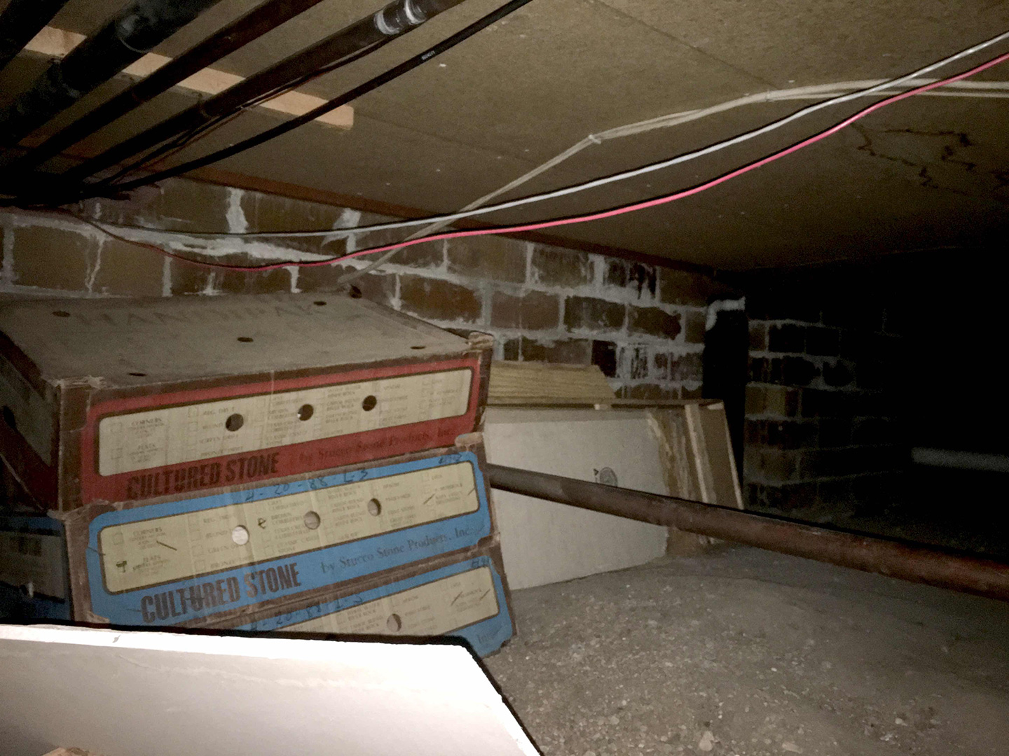 The crawlspace of this Fort Dodge, Iowa home were uninsulated allowing cold air into the home.