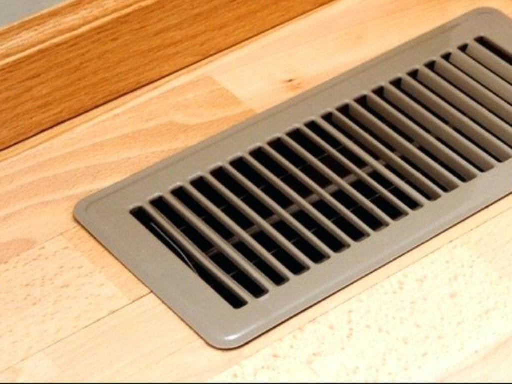 Heat vent on floor