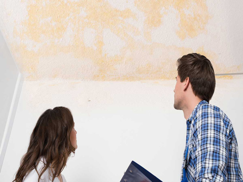 One sign of attic frost can be stains on the ceilings of your home.