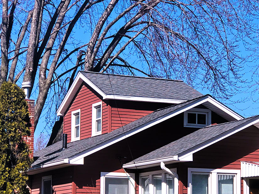LeafGuard® Brand Gutters and GAF Timberline® Lifetime HD® Asphalt Shingles.