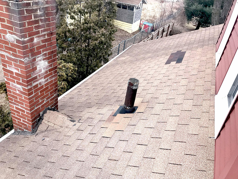 Roof repair in Des Moines.