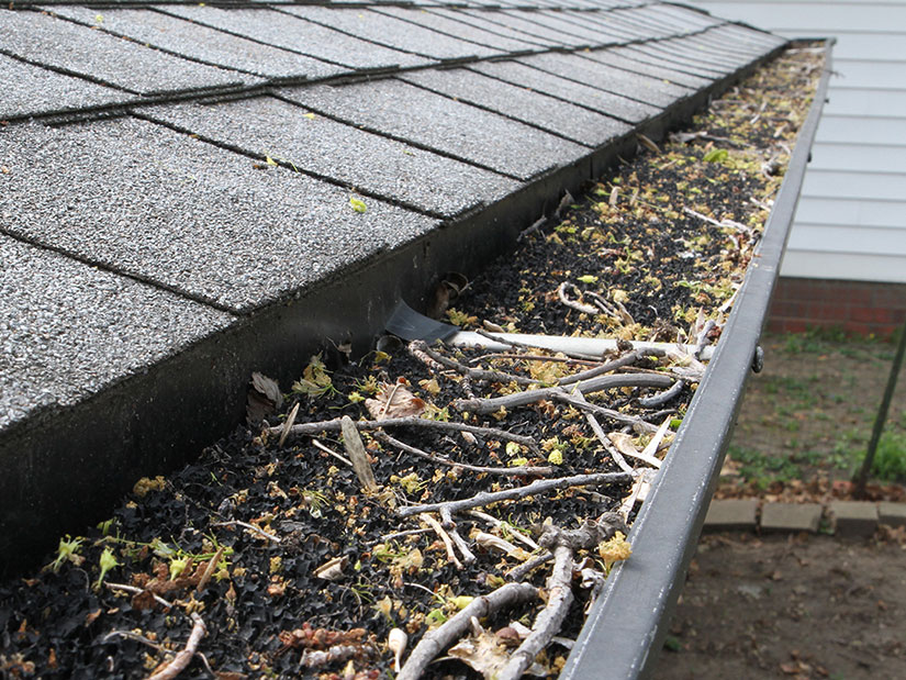 clogged gutters in Des Moines