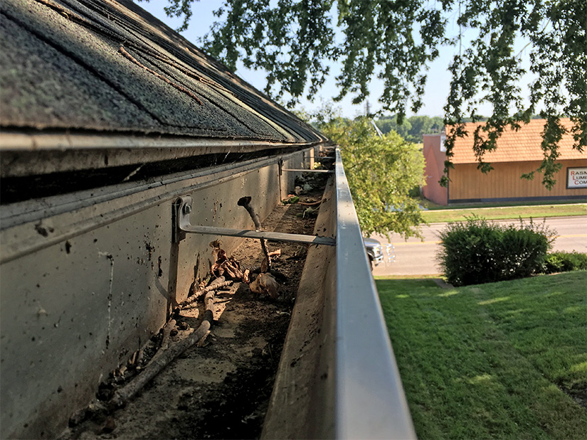Rod was fed up with worrying about gutter clogs, the danger water leaks and overflows could cause to his home, and climbing ladders to clean the gutters out.