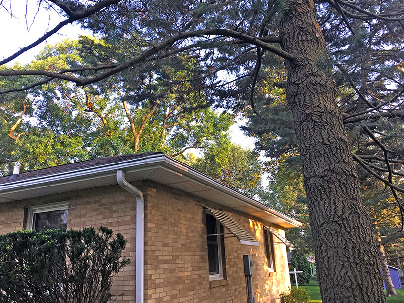 After LeafGuard® Brand Gutters were installed on this Cedar Falls, Iowa home.