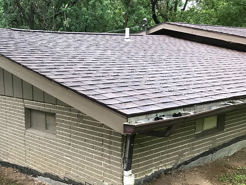 Due to the gutters close proximity to the ground, it make it easy for small critters, leaves and debris to clog the gutter system making gutter maintenance a must.