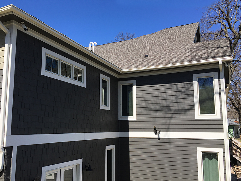 Clear Lake Iowa home featuring LeafGuard gutters