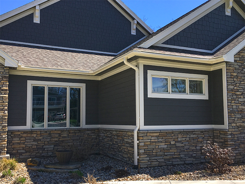 Custom fitted gutter system in Clear Lake Iowa