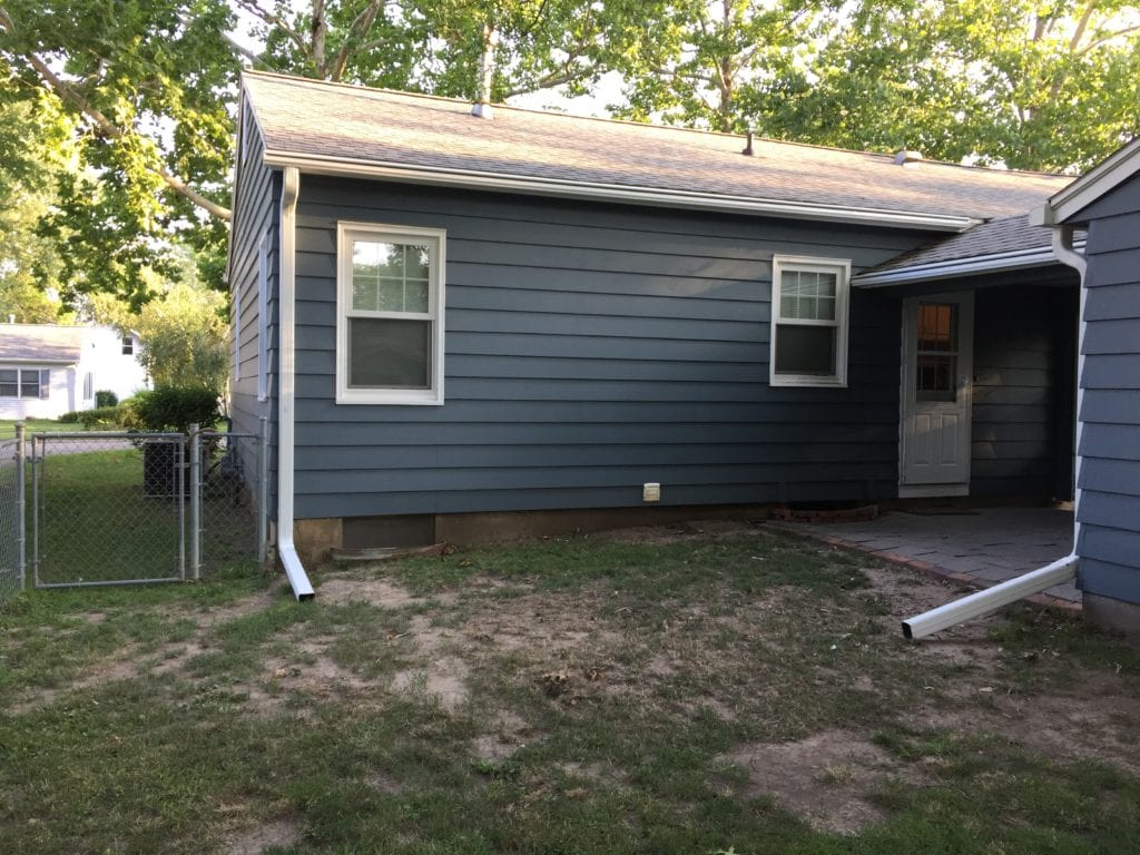 LeafGuard® Gutters eliminates problems homeowners have. That is why Katy chose Home Solutions of Iowa for her Iowa home to get the best gutter system on the market today.