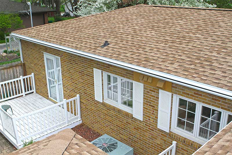 National Roofing Week Roof with LeafGuard Gutters