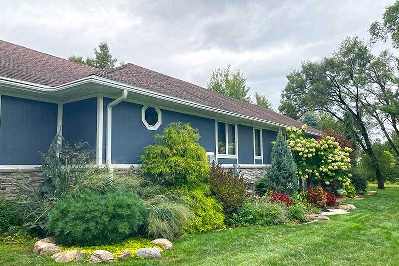 gutter color exterior home