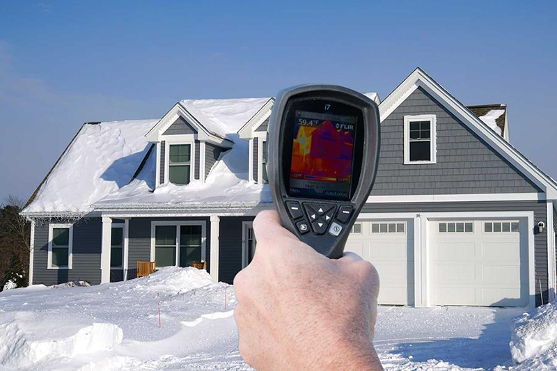 picture of a Heat Map evaluation on a winter home